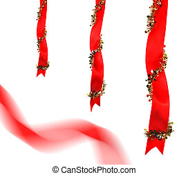 Christmas decoration with ribbons