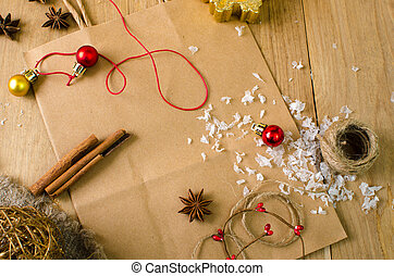 Christmas decoration with spices board