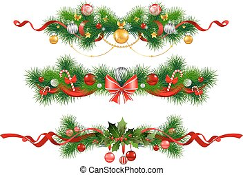 Christmas decoration with spruce tree