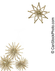 christmas decoration with straw stars - Studio photography...