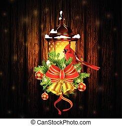 Cardinal Bird with Christmas bells over white. EPS 8, AI,... vector clip art - Search ...