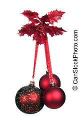 Christmas decoration with three red balls