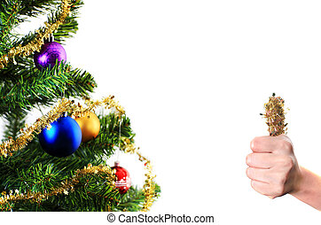 Christmas decoration with thumb up