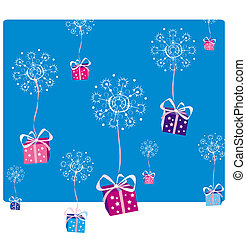 Christmas decoration2 - Gifts snowing on Christmas