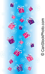 Christmas decoration4 - Gifts snowing on Christmas Day