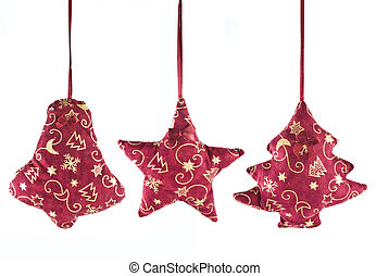 christmas decorations - bell, star and fir-tree