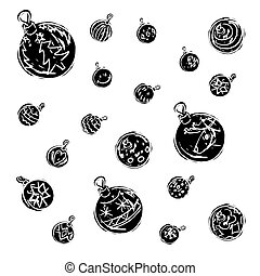 Christmas decorations black and white