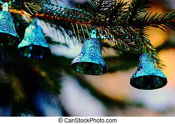 Christmas decorations  blue bells