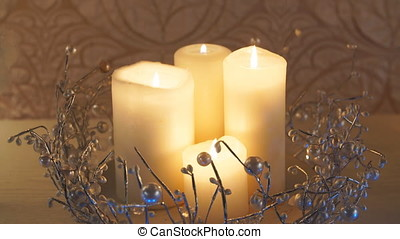 Christmas Decorations, candle. - Christmas Decorations,...