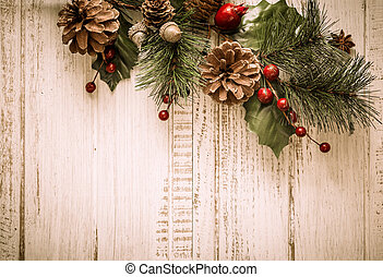 Christmas decorations - Christmas background with fir ...