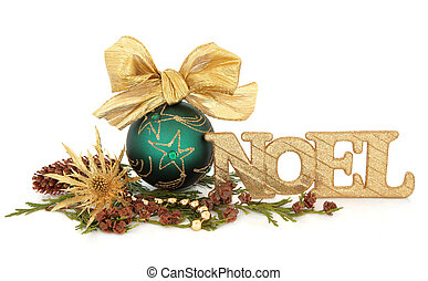 Christmas Decorations - Christmas green bauble decoration ...