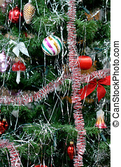 Christmas decorations - Christmas tree with decorations