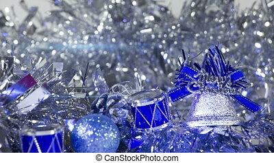 christmas decorations close-up loop