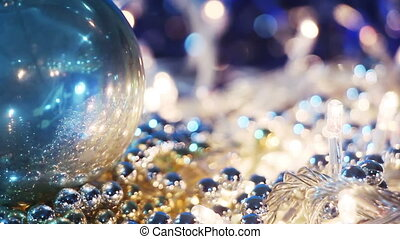 christmas decorations close-up seamless loop