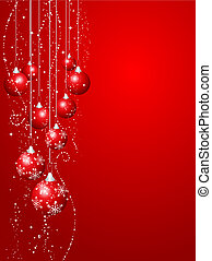 Christmas decorations - Decorative Christmas background with...