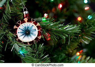 christmas decorations in tree