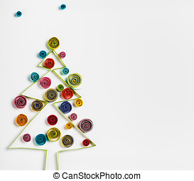 Christmas decorations made ??of paper quilling