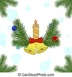Christmas decorations of pine trees