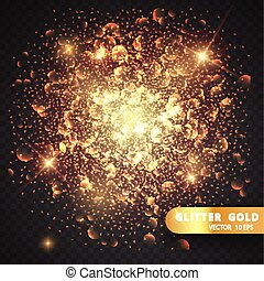 Christmas decorations on a transparent background. Light effect. light blur effect vector premium background. Luxury sparkles defocused glitter with sparkling golden glowing texture and bokeh glow.