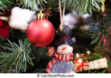 Christmas decorations on a tree