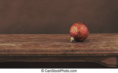 Christmas decorations on dark background