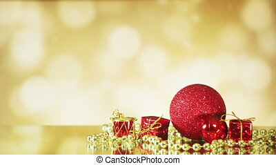 christmas decorations on shiny background seamless loop