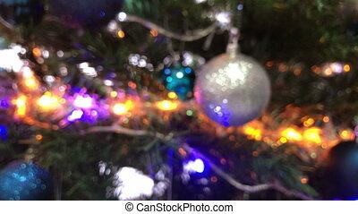 Christmas decorations on the Christmas tree