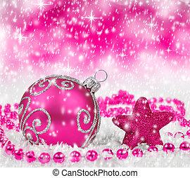 christmas decorations - Purple christmas decorations