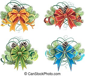 Christmas decorations set - Set of Christmas decorations...