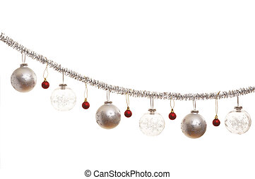 christmas decorations - Silver christmas decoration with...