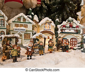 Christmas decorations (Small toy houses)