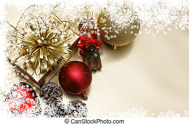 Christmas decorations - Christmas background with...