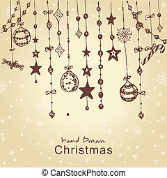 christmas decorations - Christmas hand drawn decorations for...