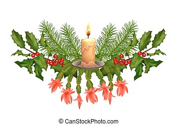 Christmas Decorations Vector - Vector Christmas decorations...