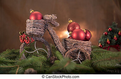 Christmas decorations with bicycle