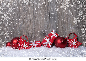 Christmas decorations with gift boxes