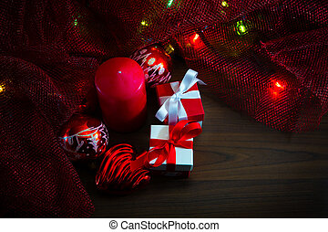 Christmas decorations with gift