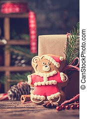 Christmas Decorations with Gingerbread cookies