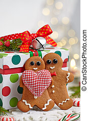 Christmas Decorations with Gingerbread man - Christmas ...