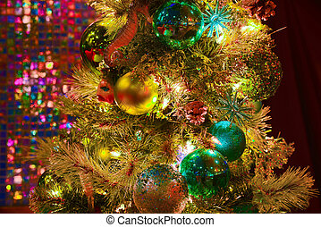 Christmas decorations with lights