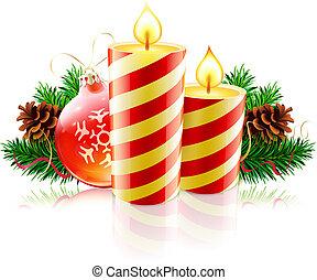 Christmas decorative composition - Vector illustration of...