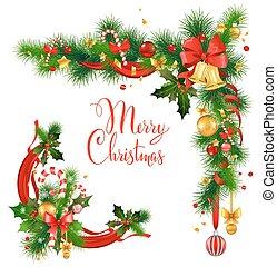 Christmas decorative corner with bells