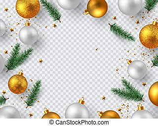 Christmas decorative design elements.