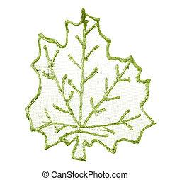 Christmas decorative green leaf