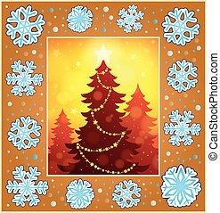Christmas decorative greeting card 1