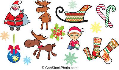 Christmas decorative set.