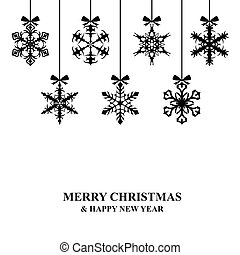 Christmas decorative snowflakes card