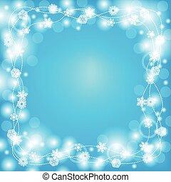 Christmas decorative snowflakes frame