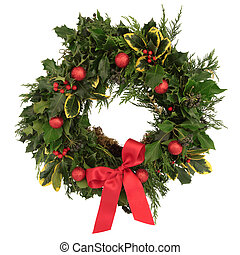 Christmas Decorative Wreath - Christmas decorative wreath of...