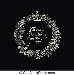 Christmas decorative wreath